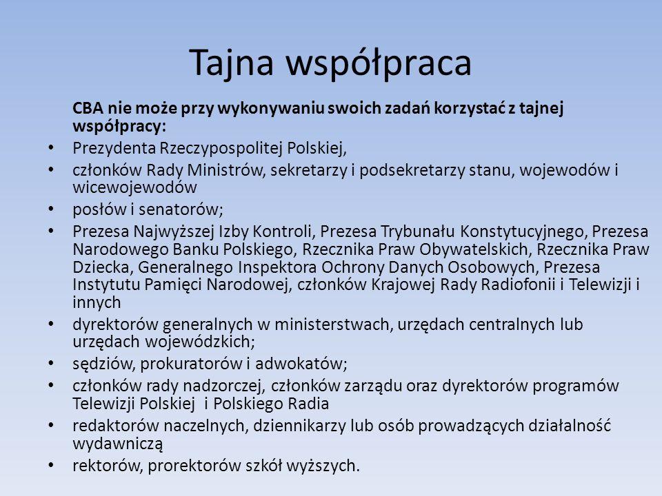 Tajna współpraca Prezydenta Rzeczypospolitej Polskiej,