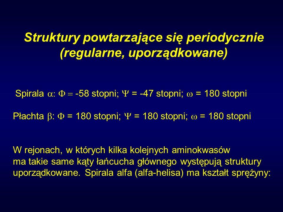 Struktury powtarzające się periodycznie (regularne, uporządkowane)