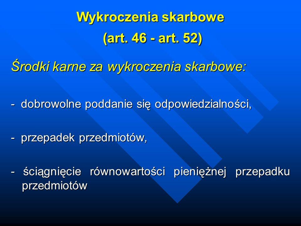 Wykroczenia skarbowe (art. 46 - art. 52)