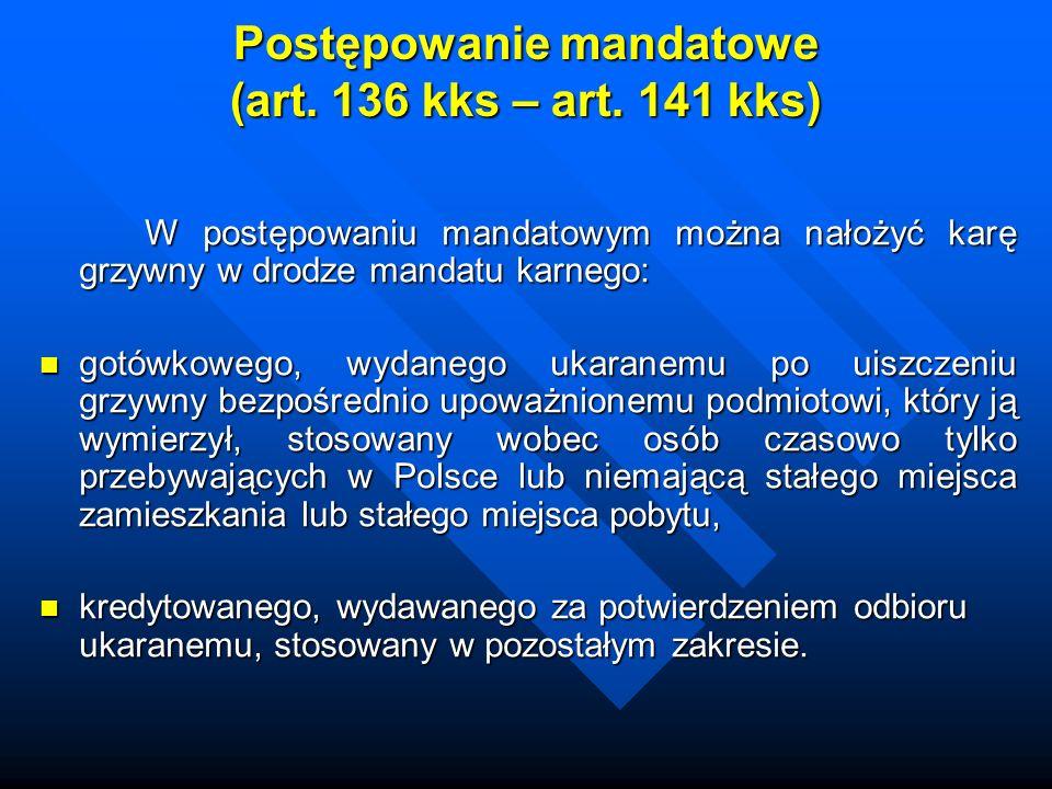 Postępowanie mandatowe (art. 136 kks – art. 141 kks)