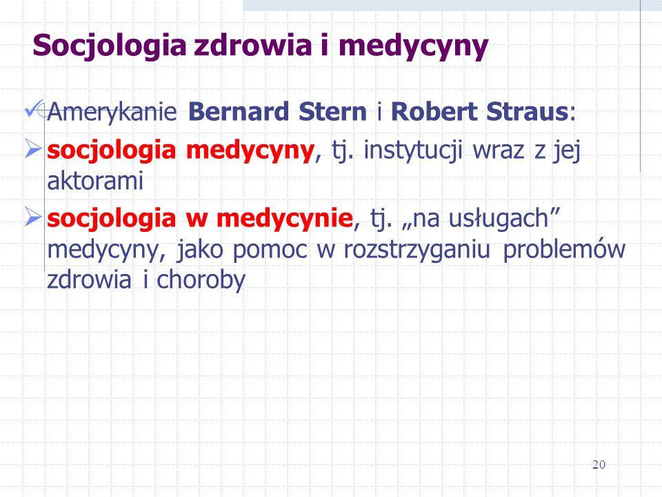 Socjologia zdrowia i medycyny