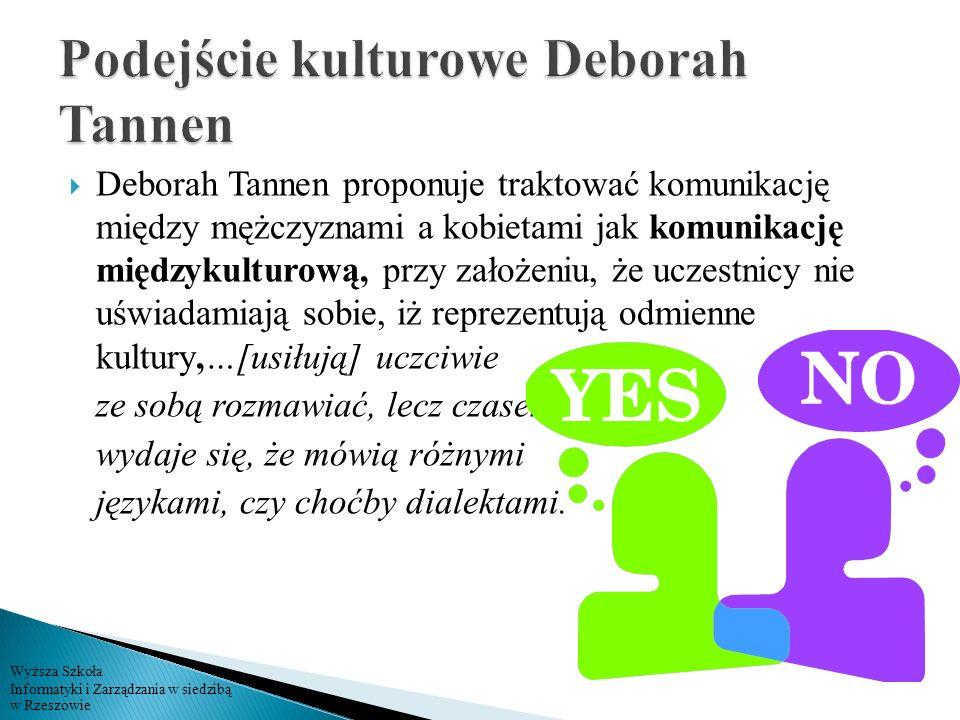Podejście kulturowe Deborah Tannen