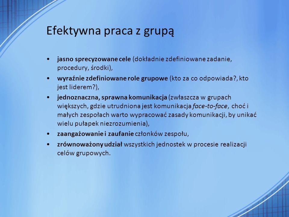 Efektywna praca z grupą