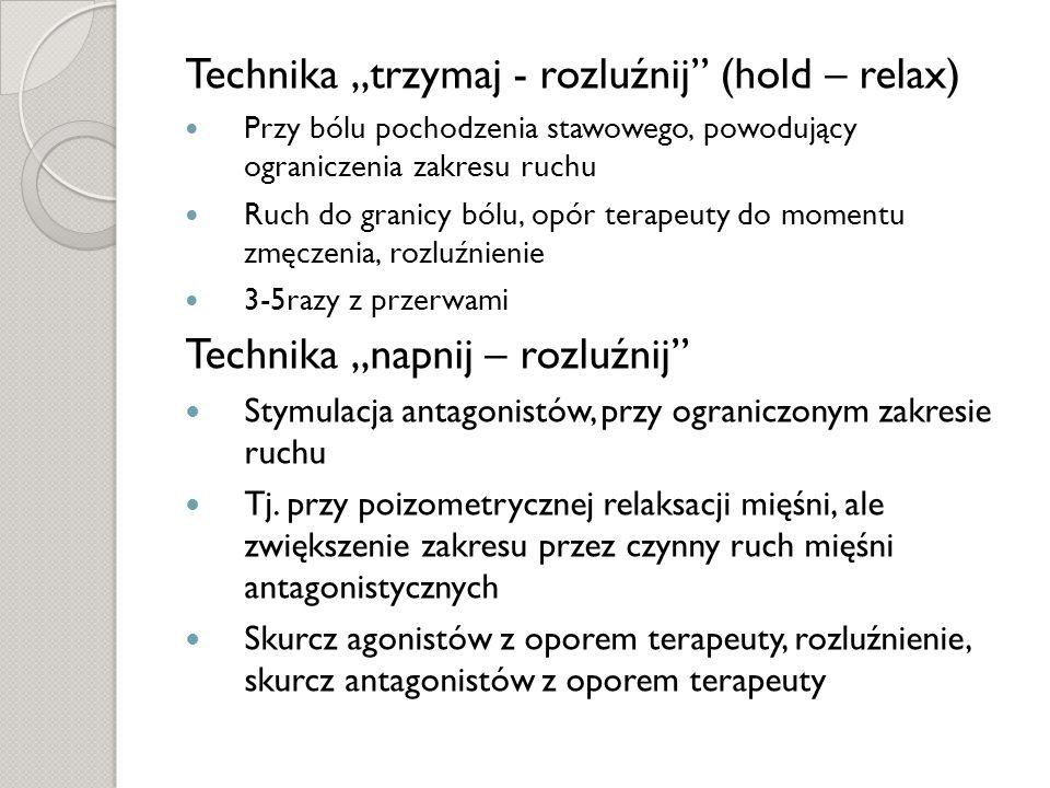 """Technika """"trzymaj - rozluźnij (hold – relax)"""