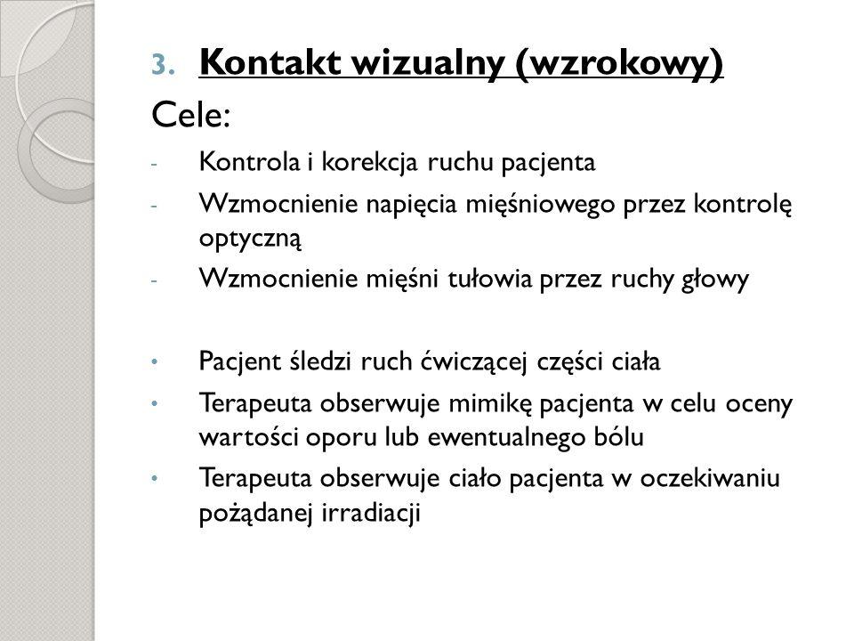 Kontakt wizualny (wzrokowy) Cele: