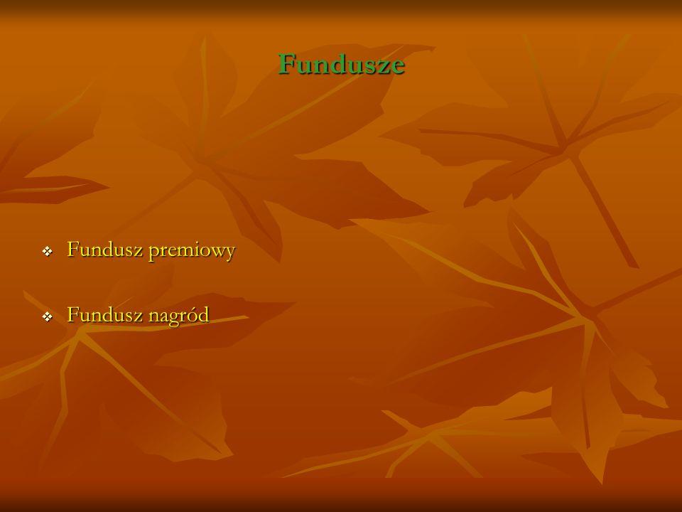 Fundusze Fundusz premiowy Fundusz nagród