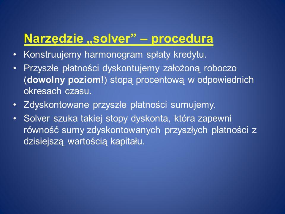 "Narzędzie ""solver – procedura"