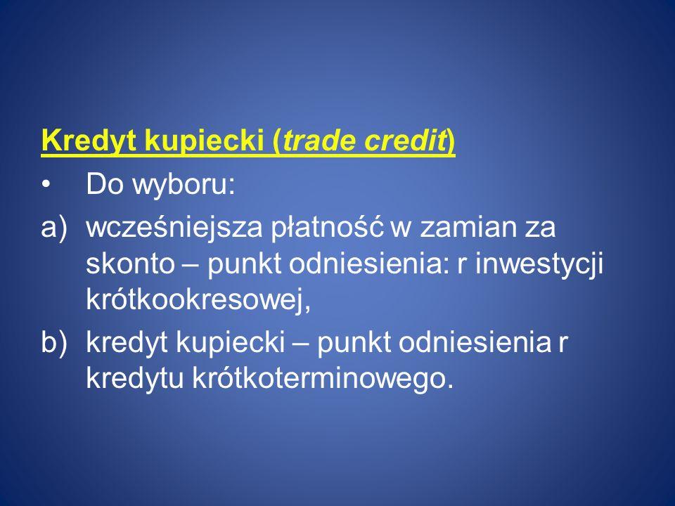 Kredyt kupiecki (trade credit)