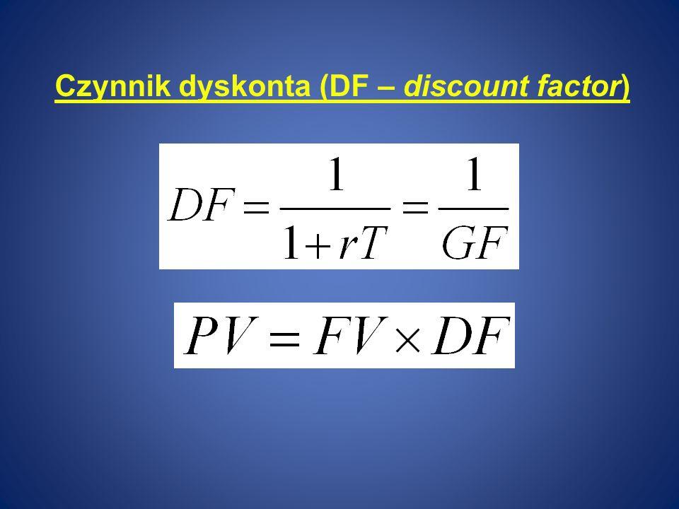 Czynnik dyskonta (DF – discount factor)