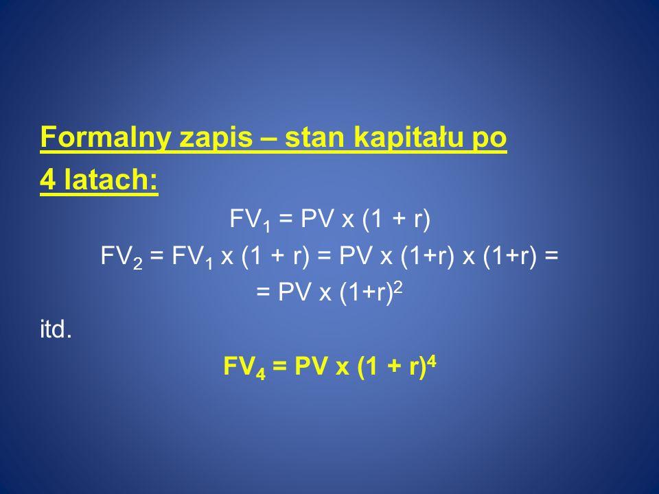 FV2 = FV1 x (1 + r) = PV x (1+r) x (1+r) =