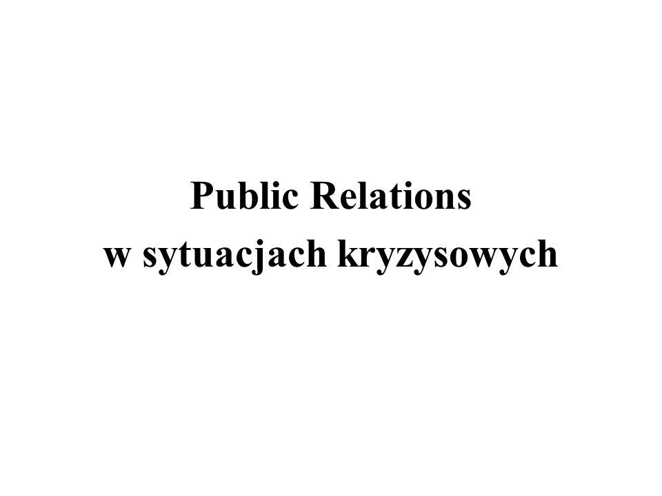 Public Relations w sytuacjach kryzysowych