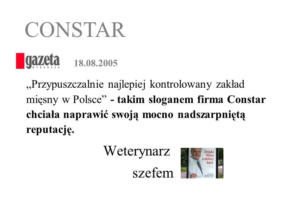 CONSTAR Weterynarz szefem 18.08.2005