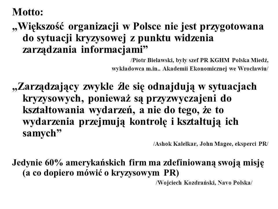 """Motto: """"Większość organizacji w Polsce nie jest przygotowana do sytuacji kryzysowej z punktu widzenia zarządzania informacjami"""