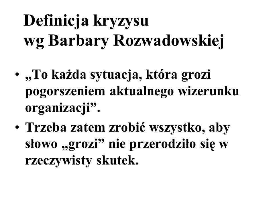 Definicja kryzysu wg Barbary Rozwadowskiej