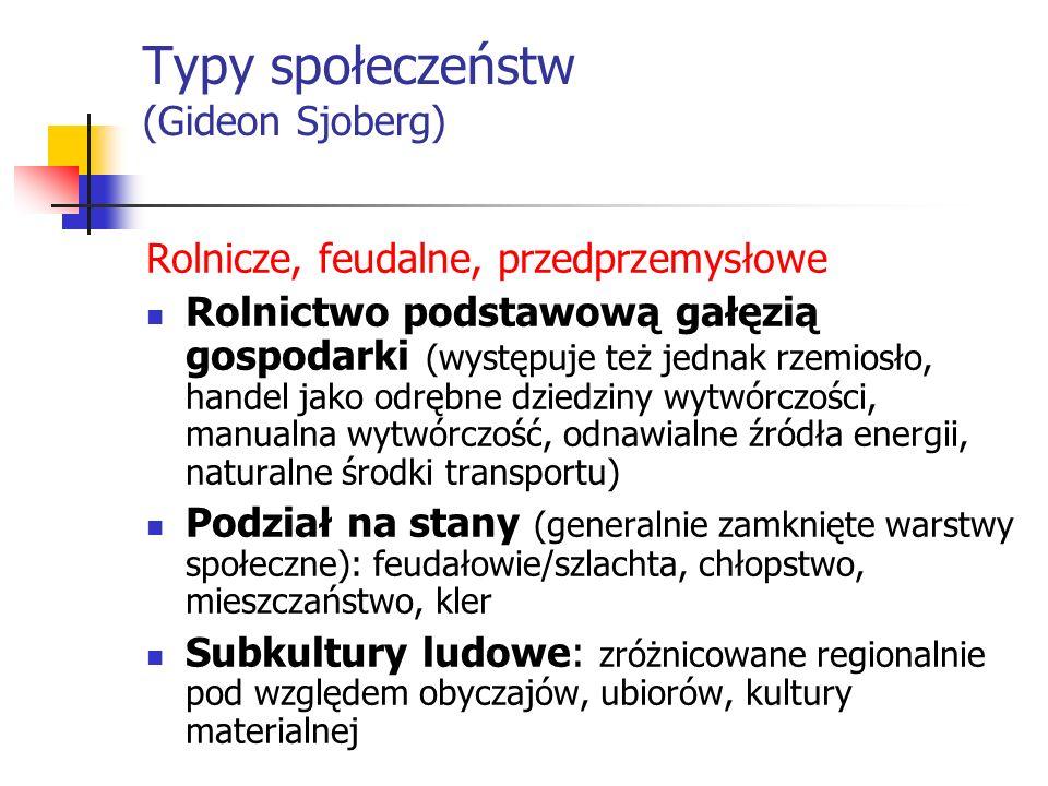 Typy społeczeństw (Gideon Sjoberg)