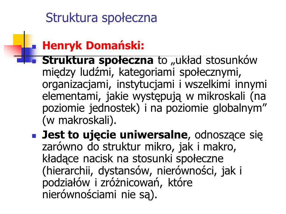 Struktura społeczna Henryk Domański: