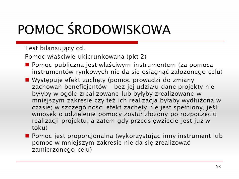 POMOC ŚRODOWISKOWA Test bilansujący cd.
