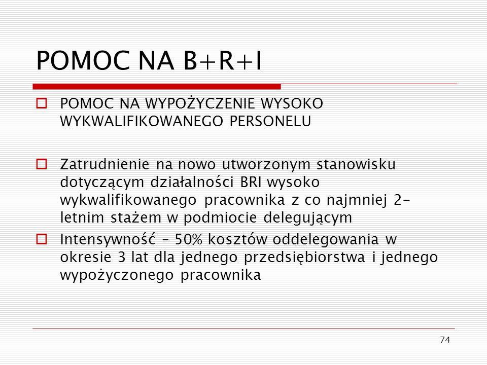 POMOC NA B+R+I POMOC NA WYPOŻYCZENIE WYSOKO WYKWALIFIKOWANEGO PERSONELU.