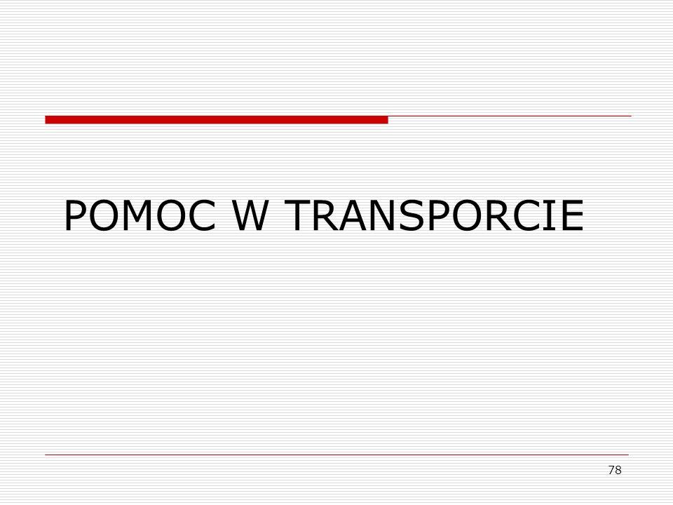 POMOC W TRANSPORCIE