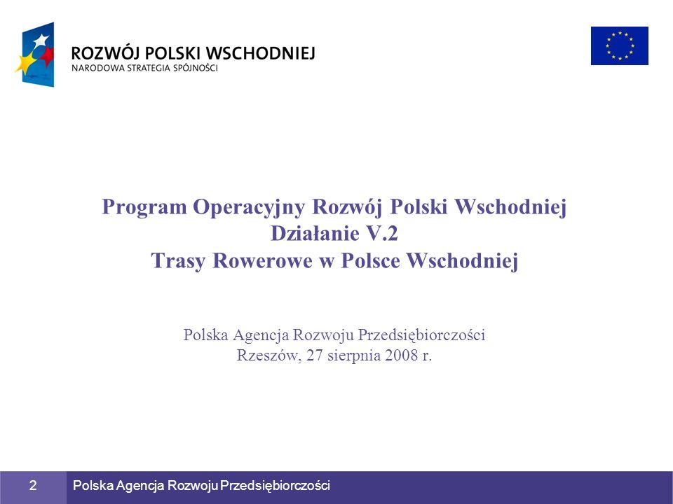 Program Operacyjny Rozwój Polski Wschodniej Działanie V