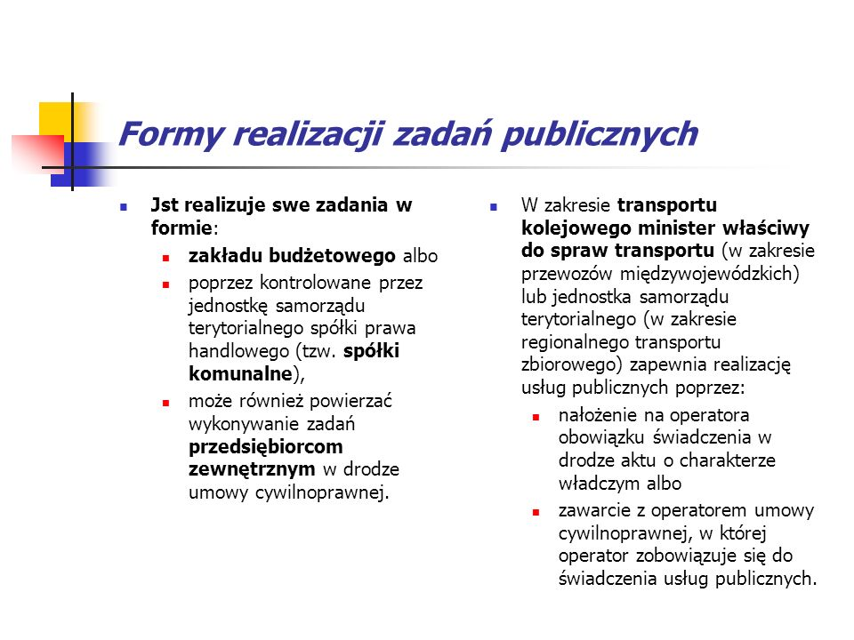 Formy realizacji zadań publicznych