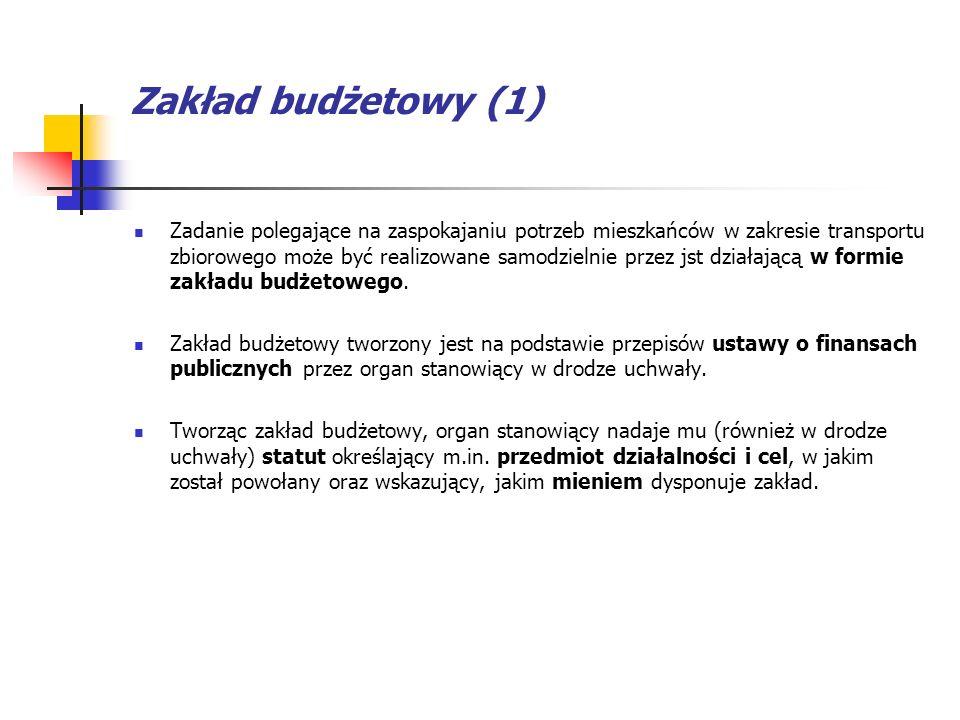 Zakład budżetowy (1)