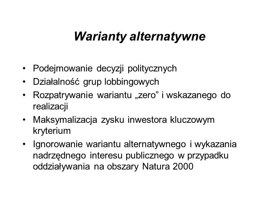 Warianty alternatywne