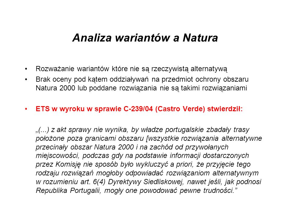 Analiza wariantów a Natura