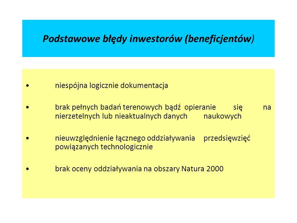Podstawowe błędy inwestorów (beneficjentów)