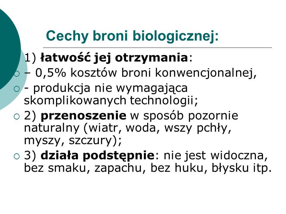 Cechy broni biologicznej: