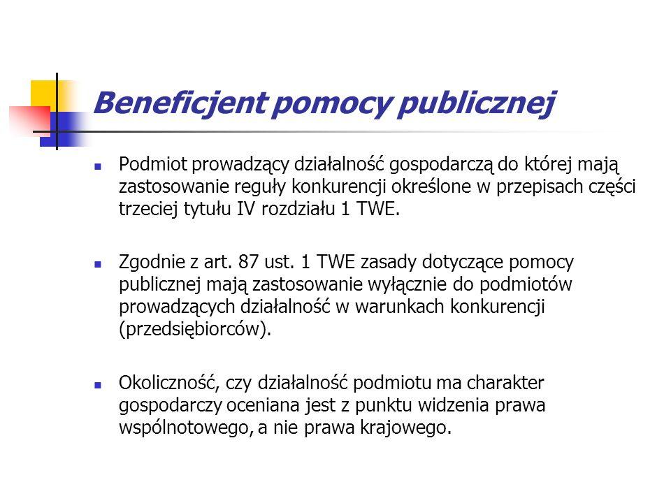 Beneficjent pomocy publicznej