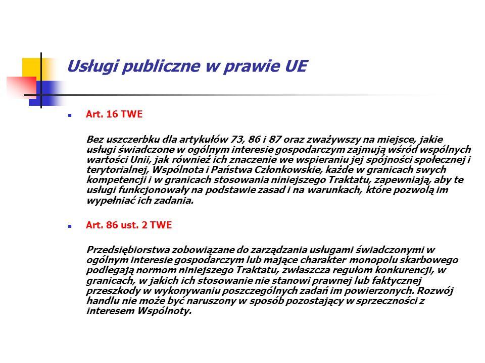 Usługi publiczne w prawie UE