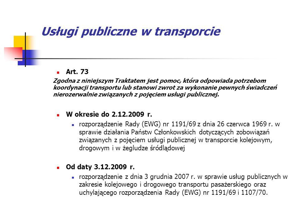 Usługi publiczne w transporcie