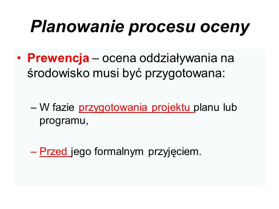 Planowanie procesu oceny