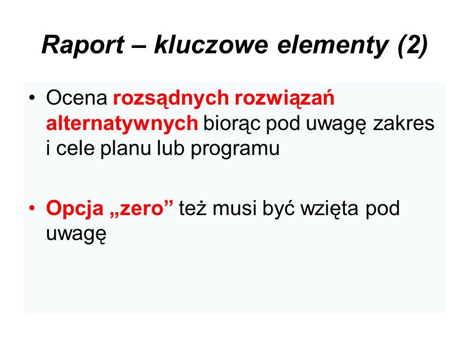 Raport – kluczowe elementy (2)