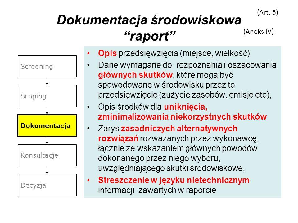 Dokumentacja środowiskowa raport