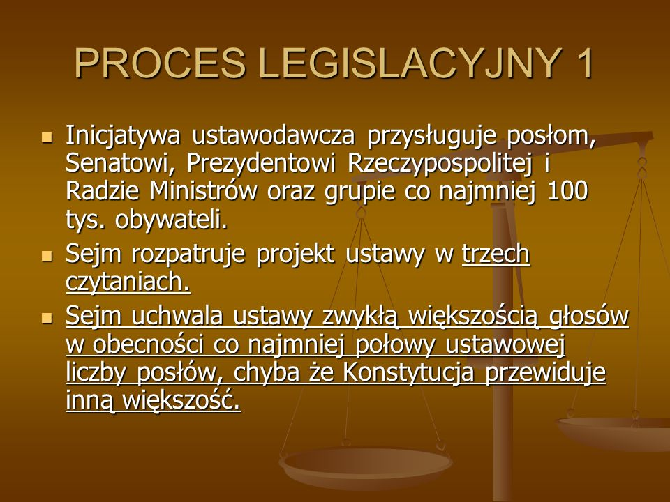PROCES LEGISLACYJNY 1