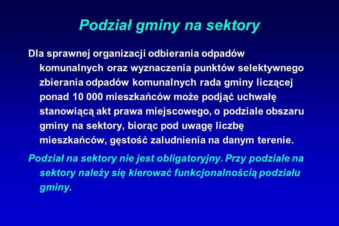 Podział gminy na sektory