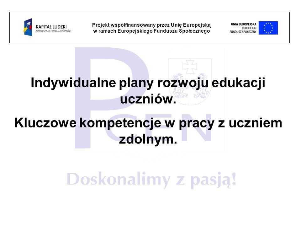 Indywidualne plany rozwoju edukacji uczniów.