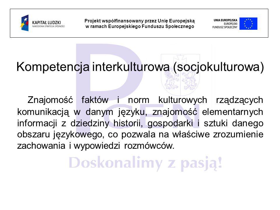 Kompetencja interkulturowa (socjokulturowa)