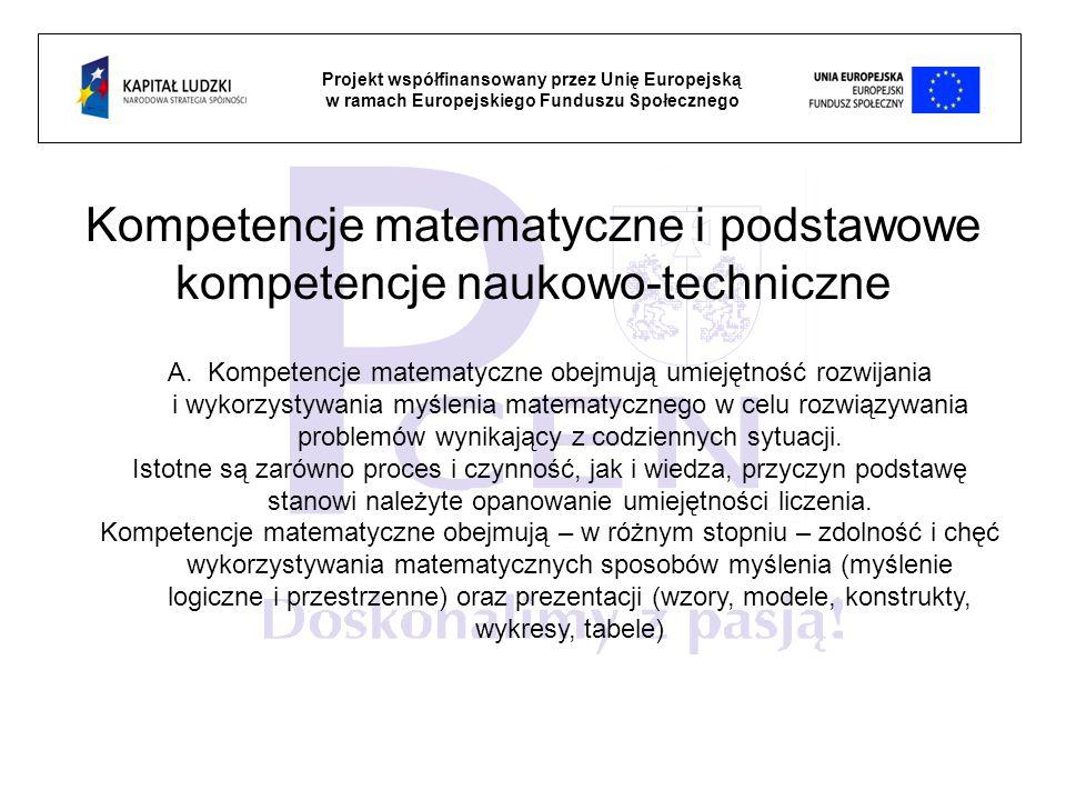Kompetencje matematyczne i podstawowe kompetencje naukowo-techniczne