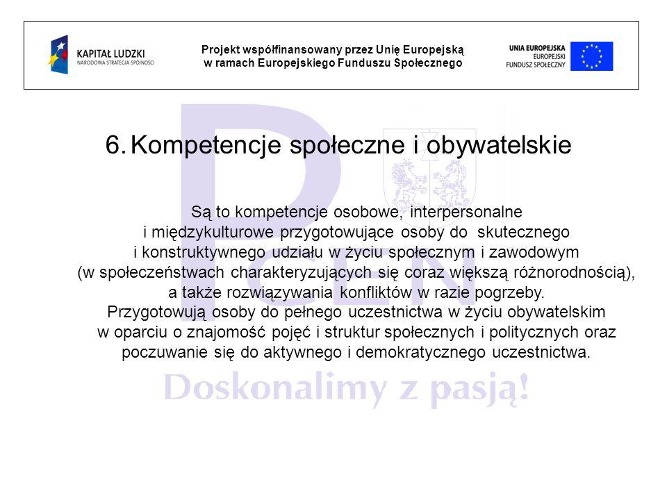 Kompetencje społeczne i obywatelskie