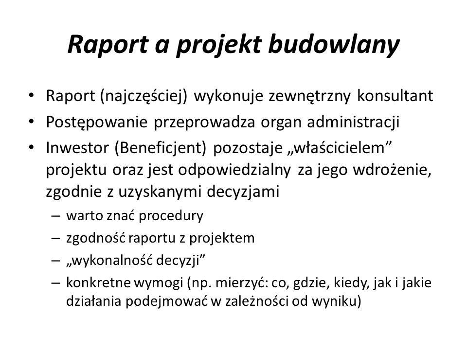 Raport a projekt budowlany