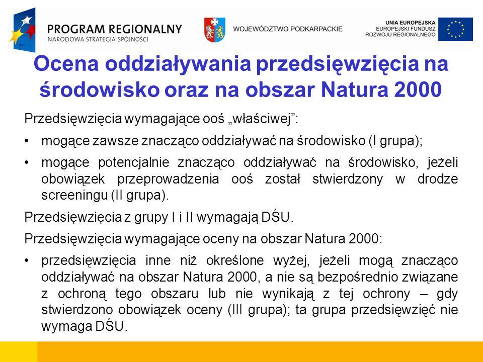Ocena oddziaływania przedsięwzięcia na środowisko oraz na obszar Natura 2000