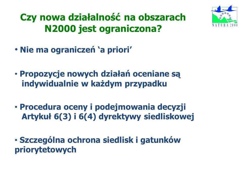 Czy nowa działalność na obszarach N2000 jest ograniczona