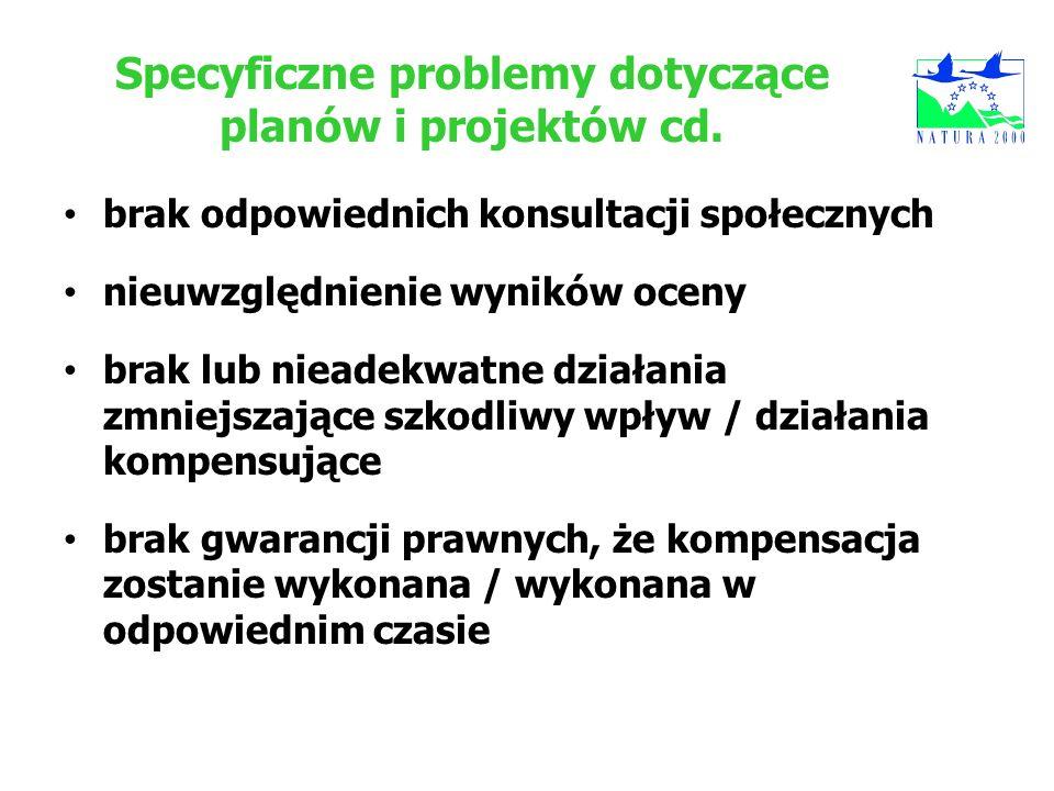 Specyficzne problemy dotyczące planów i projektów cd.