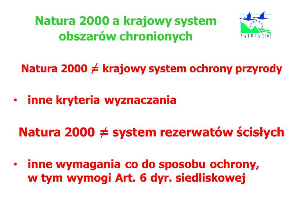 Natura 2000 a krajowy system obszarów chronionych