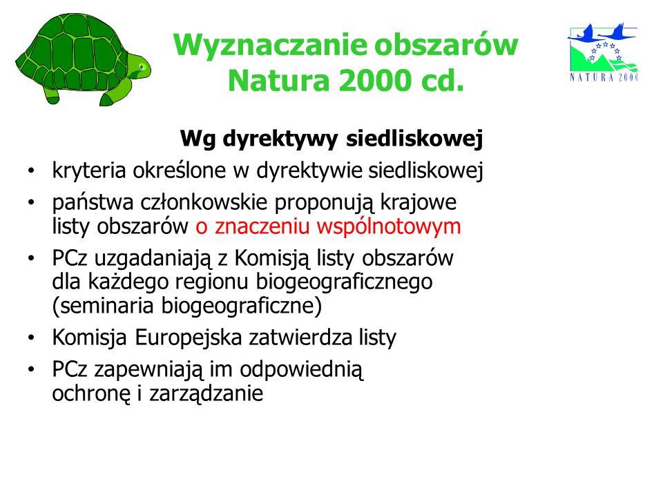 Wyznaczanie obszarów Natura 2000 cd.