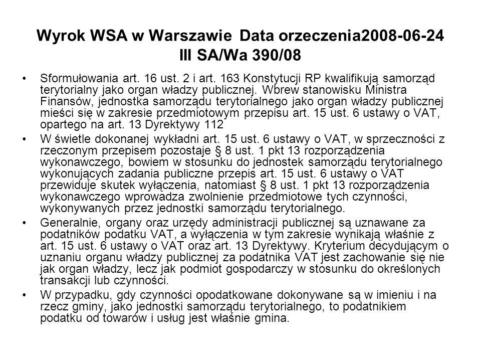 Wyrok WSA w Warszawie Data orzeczenia2008-06-24 III SA/Wa 390/08