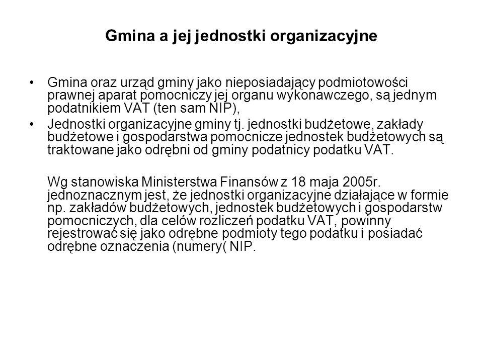 Gmina a jej jednostki organizacyjne